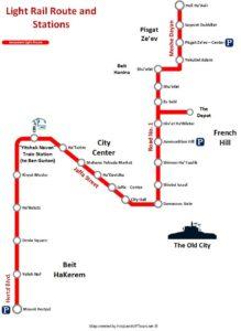 Jerusalem Light Railway Route Map