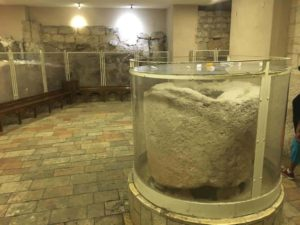 The stone where Jesus turned water into Wine