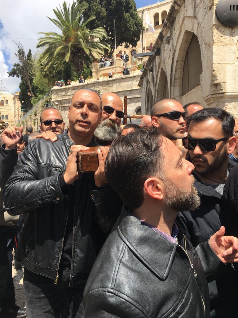 Easter procession in Jerusalem