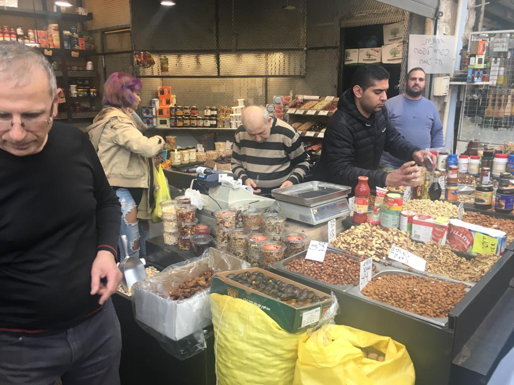nuts store in machane Yehuda
