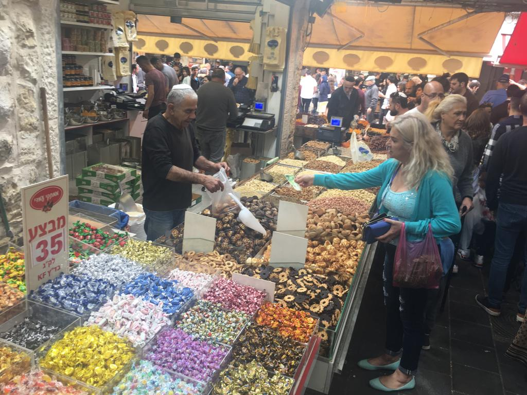 Sweets store in Machane Yehuda Market