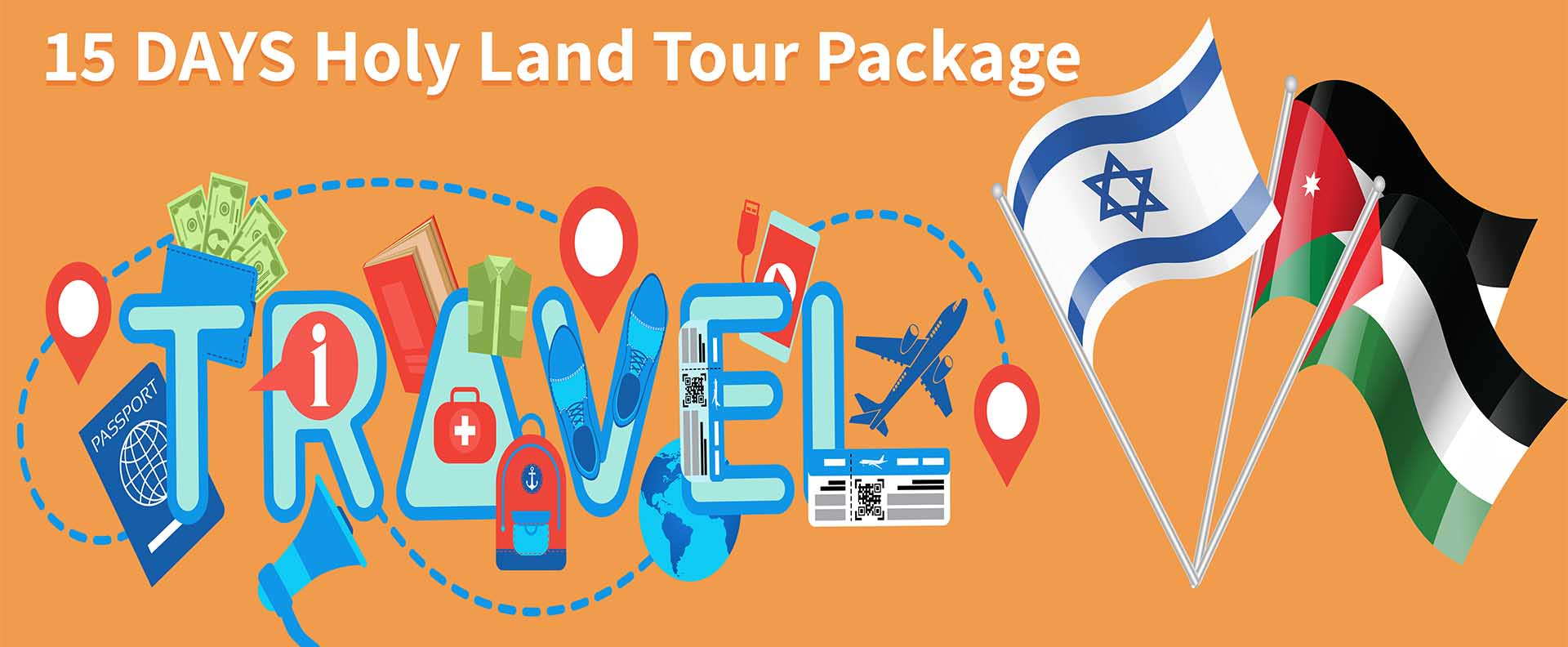 Israel, Palestine and Jordan in 15 Days Holy Land Tour Package