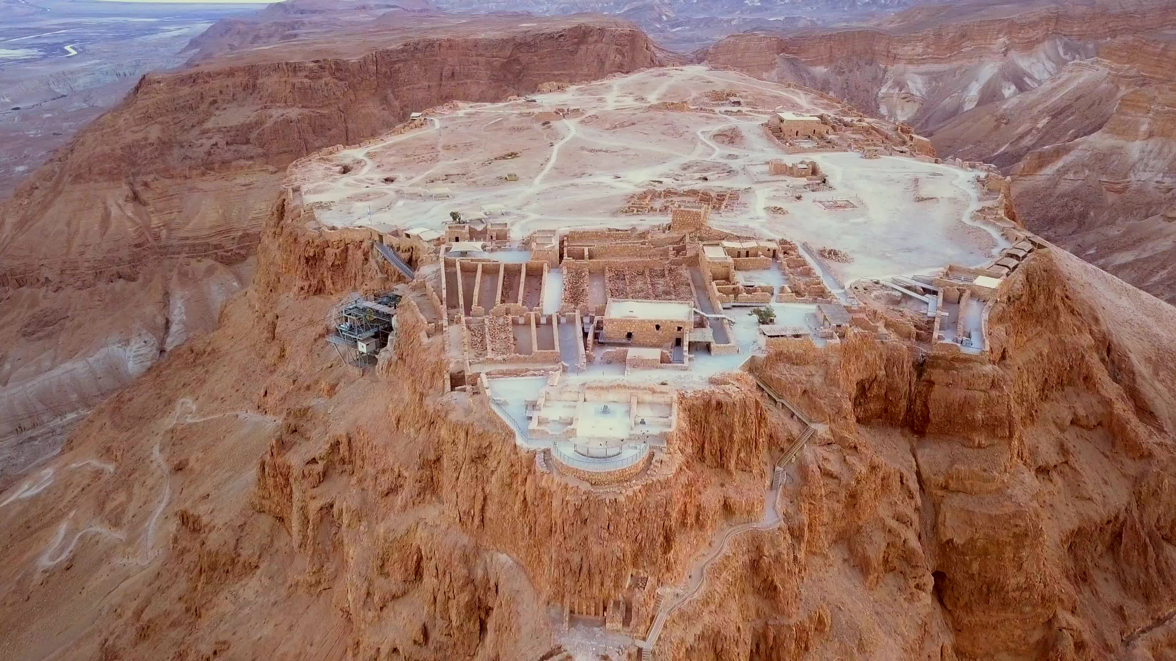 The Fort of Masada from Above