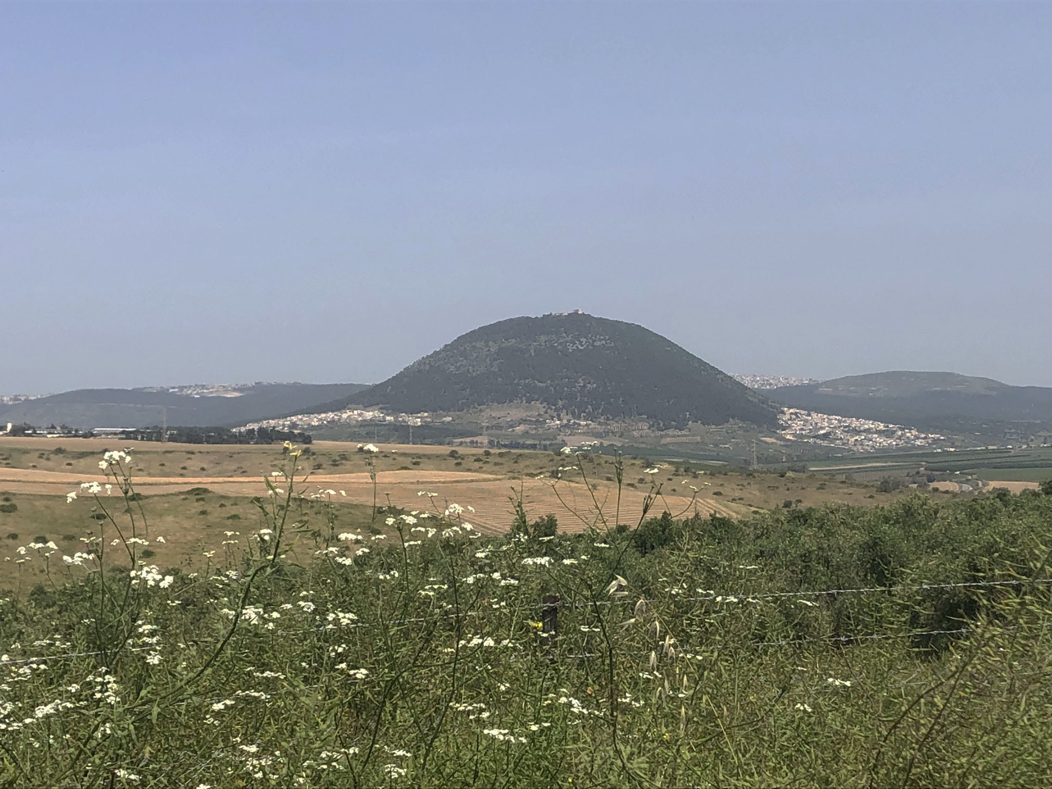 A view of Mount Tabor from Kibbutz Gazit