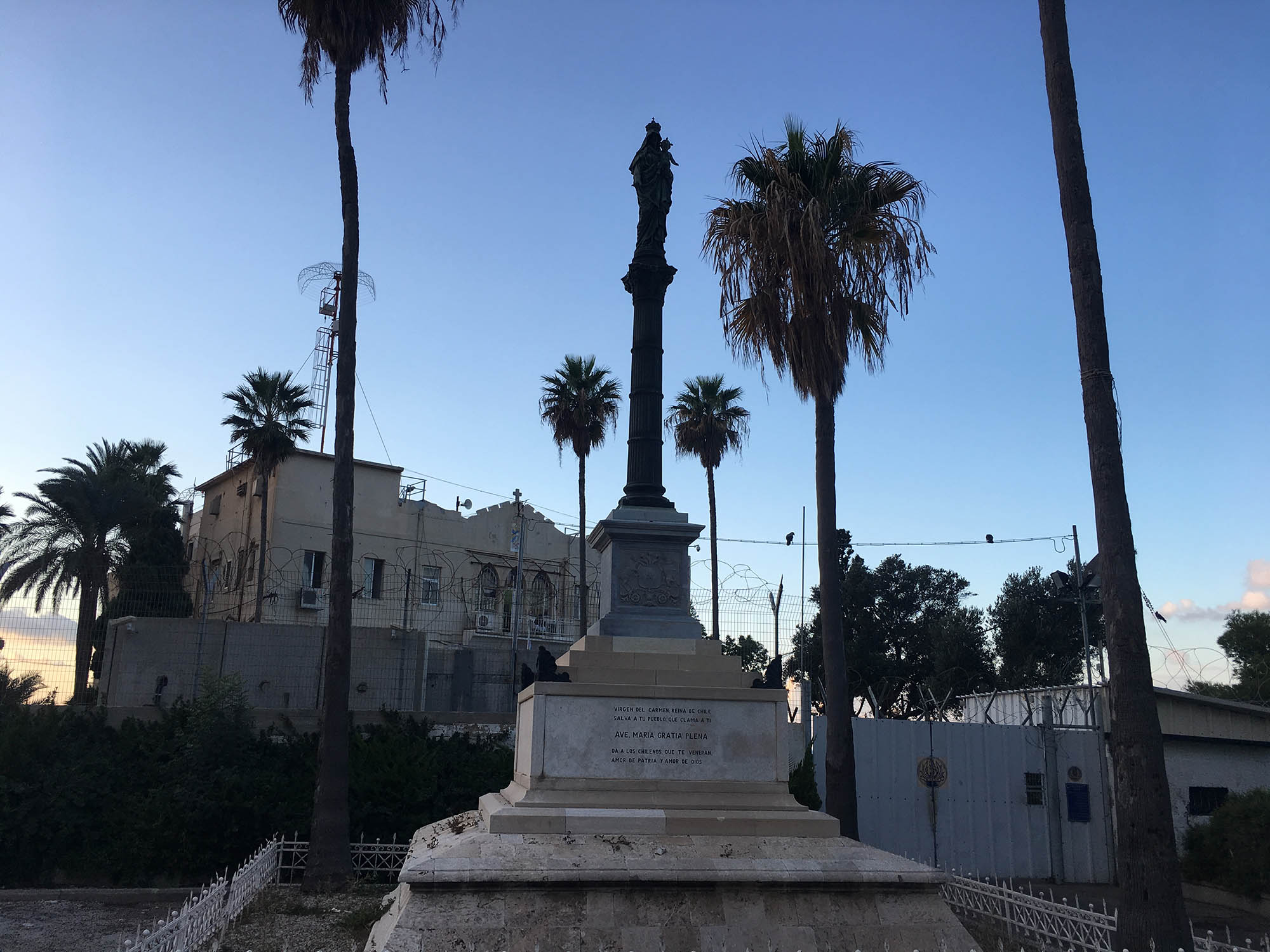 Statue near Stella Maris on Mount Carmel