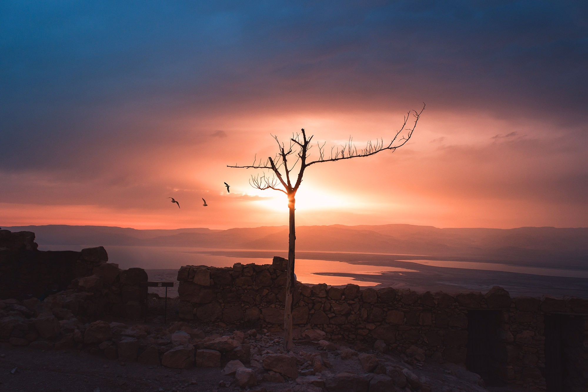 Sunrise in Masada