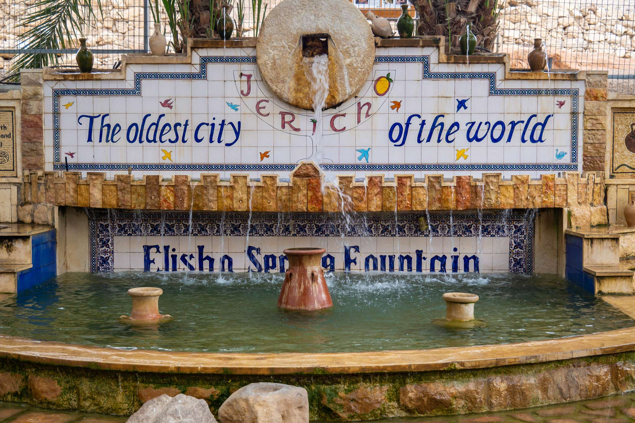Fountain in Jericho, West Bank