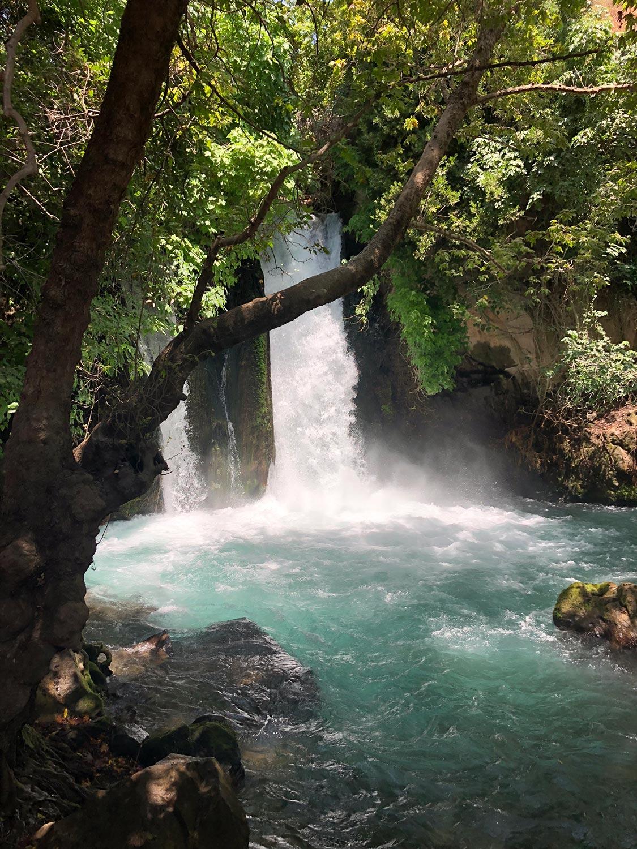The famous Banias Waterfall, Israel